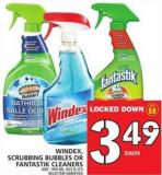 Windex - Scrubbing Bubbles Or Fantastik Cleaners