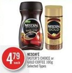 Nescafé Taster's Choice or Gold Coffee