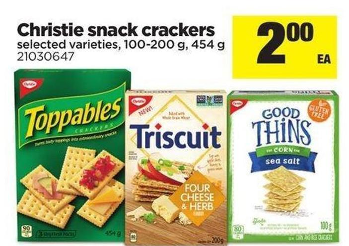 Christie Snack Crackers - 100-200 G - 454 G