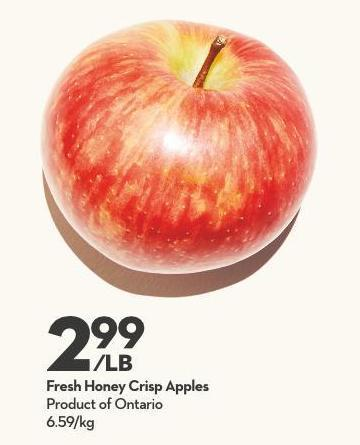 Fresh Honey Crisp Apples