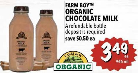 Farm Boy Organic Chocolate Milk 946 ml