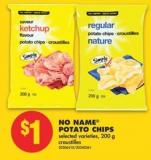 No Name Potato Chips - 200 g