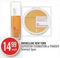 Maybelline New York  Superstay Foundation or Powder