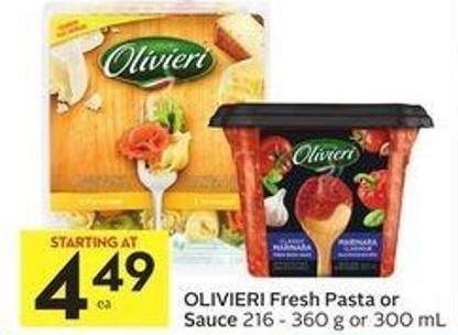 Olivieri Fresh Pasta Or Sauce