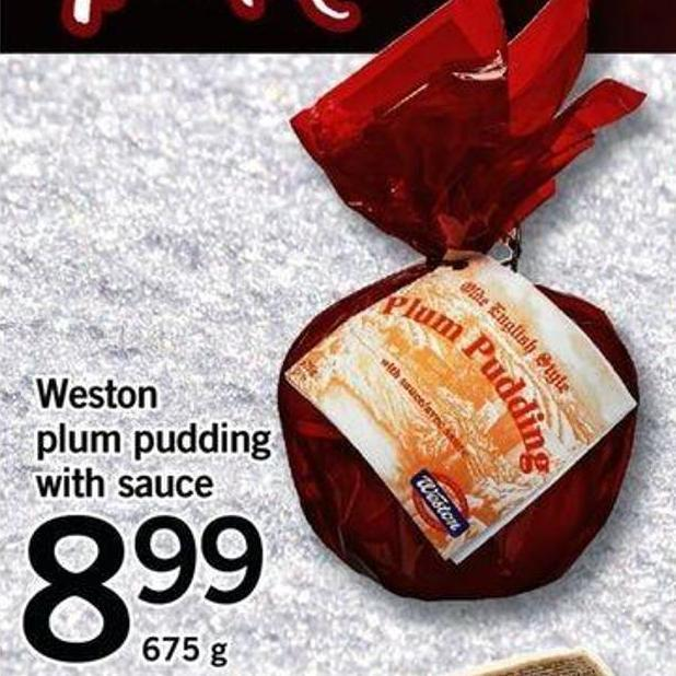 Weston Plum Pudding With Sauce - 675 G