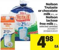 Neilson Trutaste Or Chocolate Milk - 4 L - Or Neilson Lactose Free Milk - 2 L