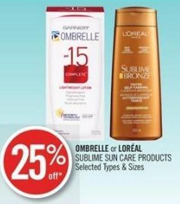 Ombrelle or Loréal Sublime Sun Care Products