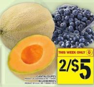 Cantaloupes Or Blueberries