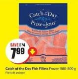 Catch of The Day Fish Fillets Frozen 580-800 g