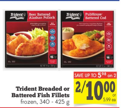 Trident breaded or battered fish on sale for Trident fish sticks
