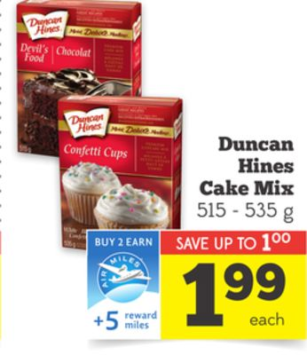 cake mixes on sale
