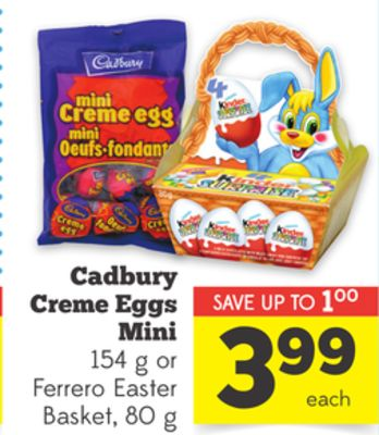 Kinder Chocolate Mini Easter Bag or on sale | Salewhale.ca