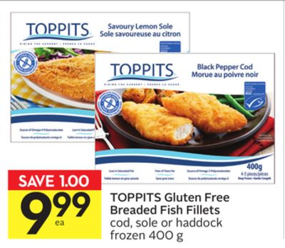 Toppits gluten free breaded fish on sale for Gluten free fish breading