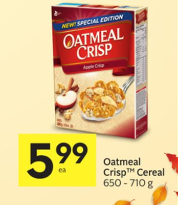 Oatmeal Crisp Cereal on sale | Salewhale.ca