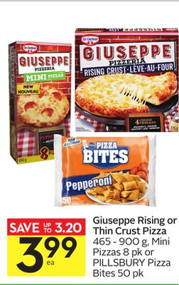 Giuseppe Rising or Thin Crust Pizza