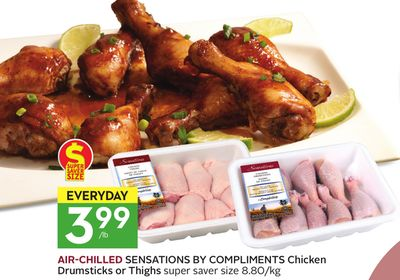 Air-chilled Sensations By Compliments Chicken Drumsticks or Thighs