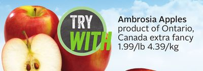 Ambrosia Apples Product of Ontario - Canada Extra Fancy