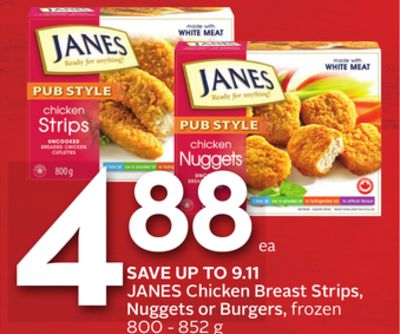 Janes Chicken Breast Strips - Nuggets or Burgers