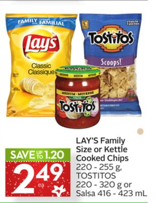 Lay's Family Size Or Kettle Cooked Chips
