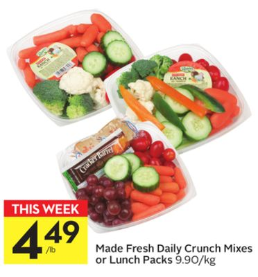 Made Fresh Daily Crunch Mixes or Lunch Packs