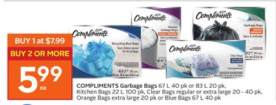Compliments Garbage Bags