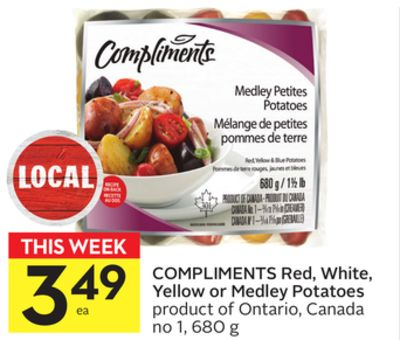 Compliments Red - White - Yellow or Medley Potatoes