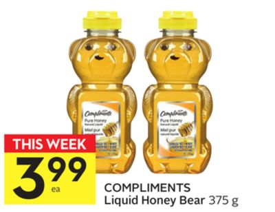 Compliments Liquid Honey Bear