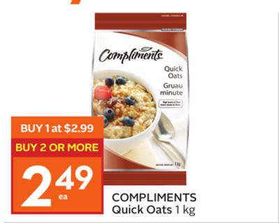 Compliments Quick Oats