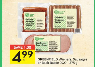 Greenfield Wieners - Sausages or Back Bacon