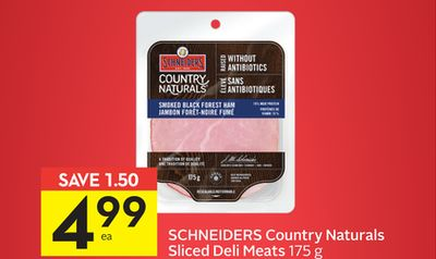 Schneiders Country Naturals Sliced Deli Meats