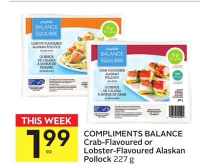 Compliments Balance Crab-flavoured or Lobster-flavoured Alaskan Pollock