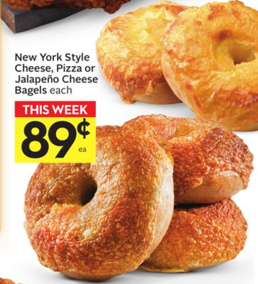 New York Style Cheese - Pizza or Jalapeño Cheese Bagels