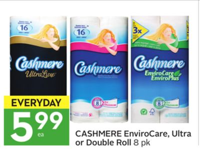 Cashmere Envirocare - Ultra or Double Roll