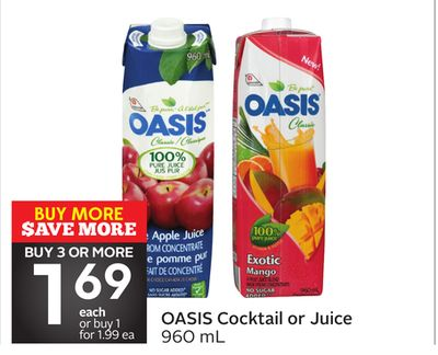 Oasis Cocktail or Juice