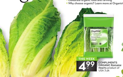 Compliments Organic Romaine Hearts