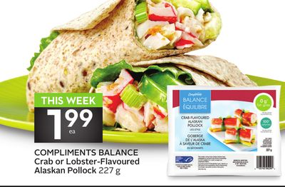 Compliments Balance Crab or Lobster-flavoured Alaskan Pollock