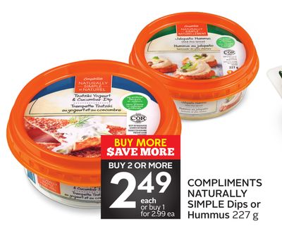 Compliments Naturally Simple Dips or Hummus