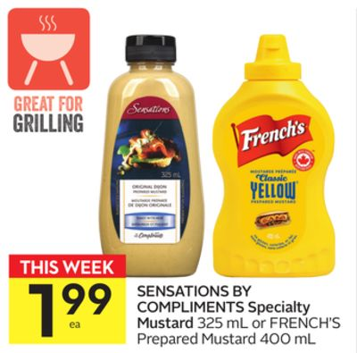 Sensations By Compliments Specialty Mustard