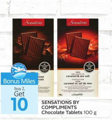 Sensations By Compliments Chocolate Tablets