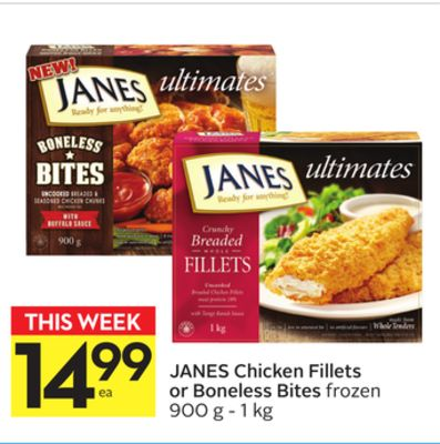 Janes Chicken Fillets or Boneless Bites