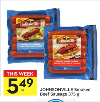 Johnsonville Smoked Beef Sausage