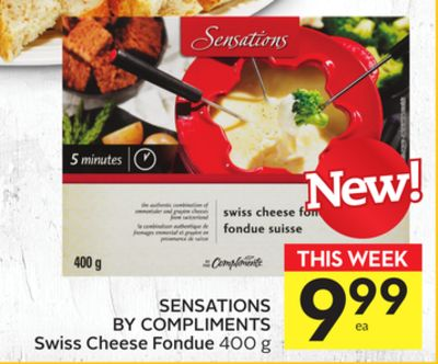 Sensations By Compliments Swiss Cheese Fondue
