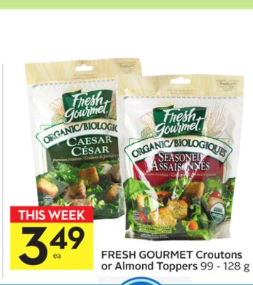 Fresh Gourmet Croutons or Almond Toppers