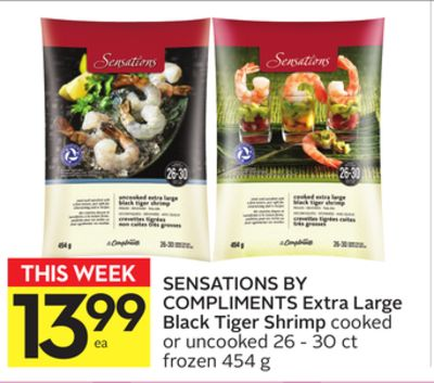 Sensations By Compliments Extra Large Black Tiger Shrimp