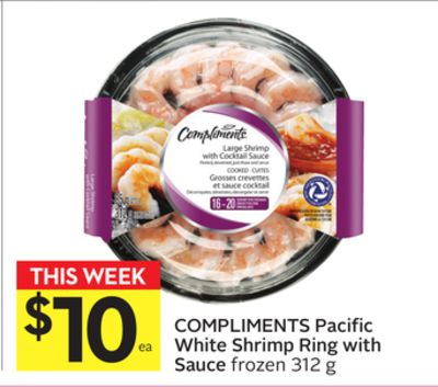 Compliments Pacific White Shrimp Ring With Sauce