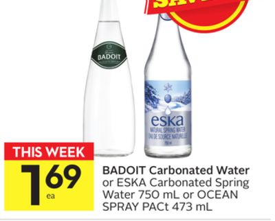 Badoit Carbonated Water