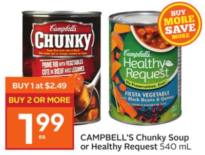 Campbell's Chunky Soup or Healthy Request