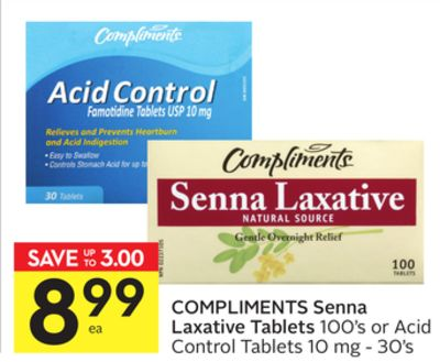 Compliments Senna Laxative Tablets