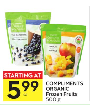 Compliments Organic Frozen Fruits