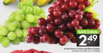Jumbo Red or Green Seedless Grapes